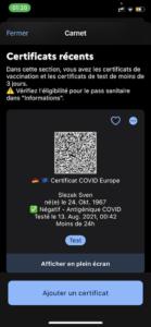 COVID App Frankreich
